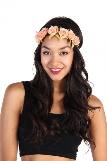LoveMelrose.com From Harry & Molly | Flower Headband - Coral
