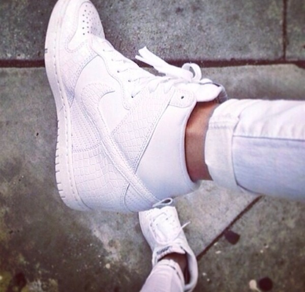 shoes nike nike air nike air force 1 white wedges wedge sneakers white sneakers