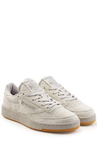 sneakers. sneakers suede grey shoes