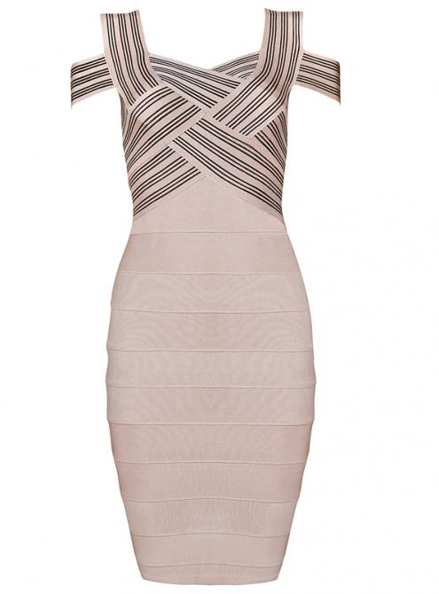 Apricot Unique Sexy Strap Bandage Dress H169 $109