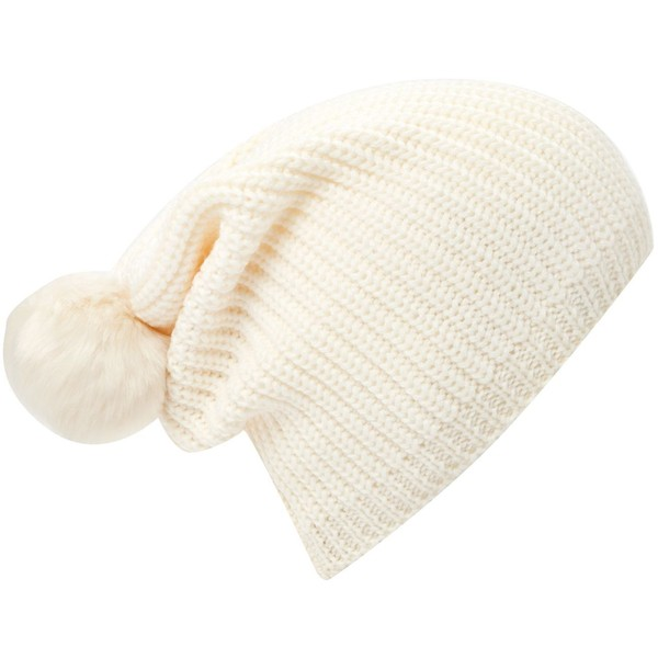 French Connection HOF exclusive ribbed bobble beanie - Polyvore