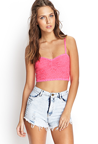 Ruched Floral Lace Bralette   FOREVER21 - 2000071627