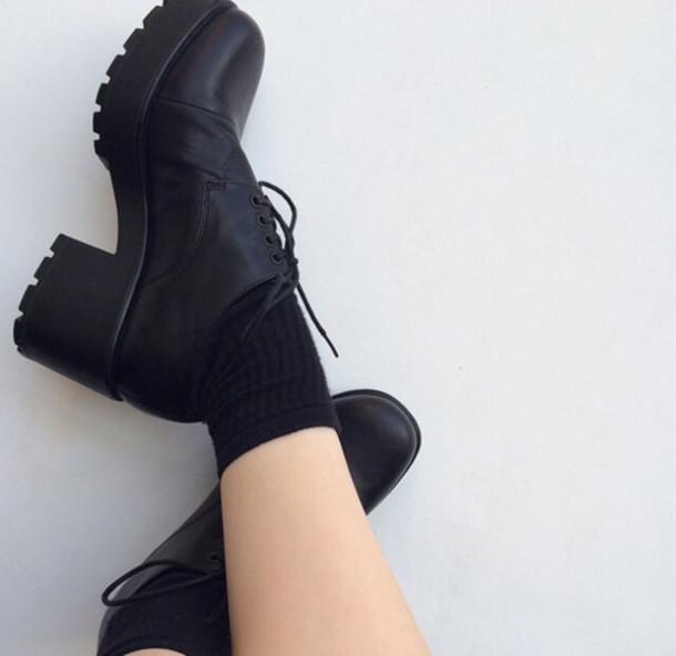 shoes black black shoes grunge grunge shoes