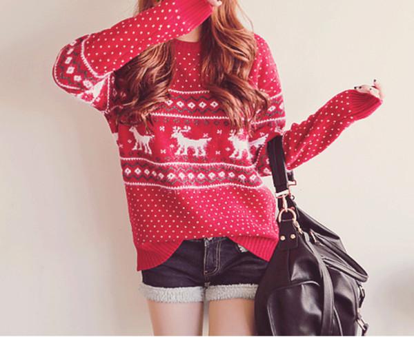 sweater winter sweater christmas sweater oversized cardigan kawaii