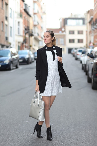 from brussels with love,blogger,jacket,dress,shoes,bag