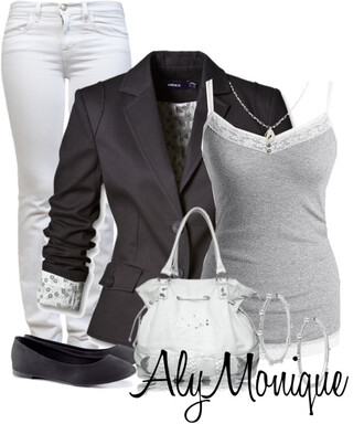 jeans white jeans aly monique jacket bag