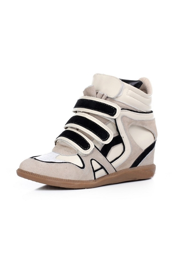 Casual High-Top Hidden Wedge Sneaker [FABI1473] - PersunMall.com