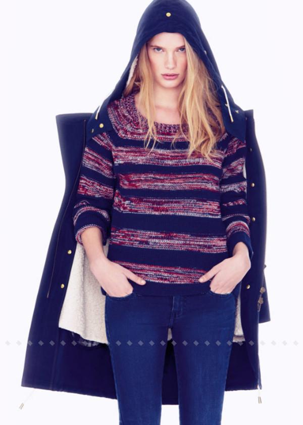 coat ba&sh fashion lookbook sweater pants
