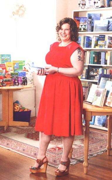 dress red dress curvy