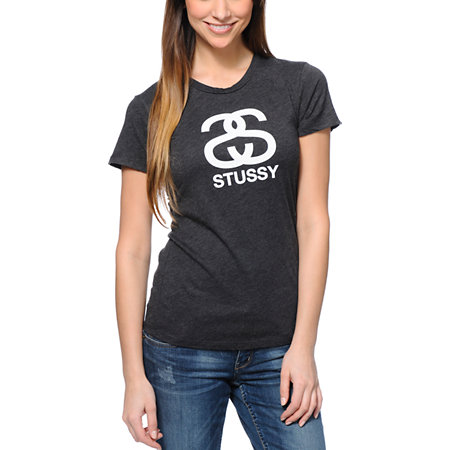 Stussy Heather Charcoal Tee Shirt at Zumiez : PDP