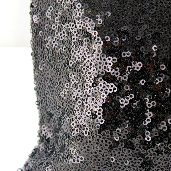 Black Sequined Zipper Clutch Bag - Sheinside.com