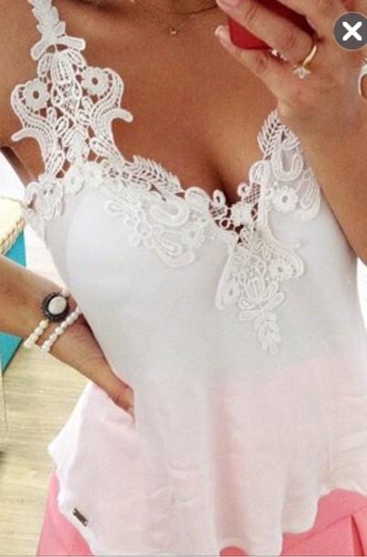 shirt lace top