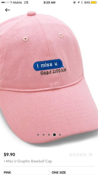 hat cap pink