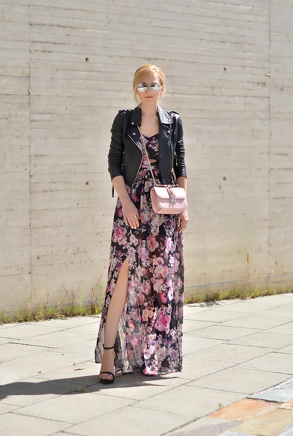 oh my vogue jacket bag shoes make-up dress