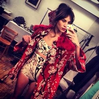 swimwear alexa chung coat lingerie jacket