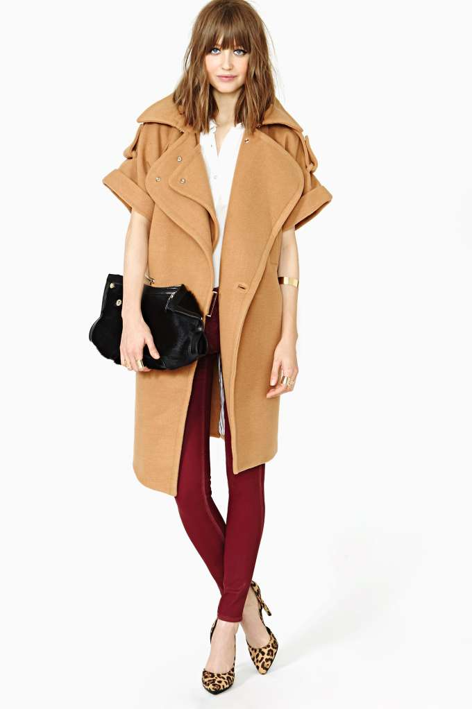 Three Floor Campaign Coat in  Clothes at Nasty Gal
