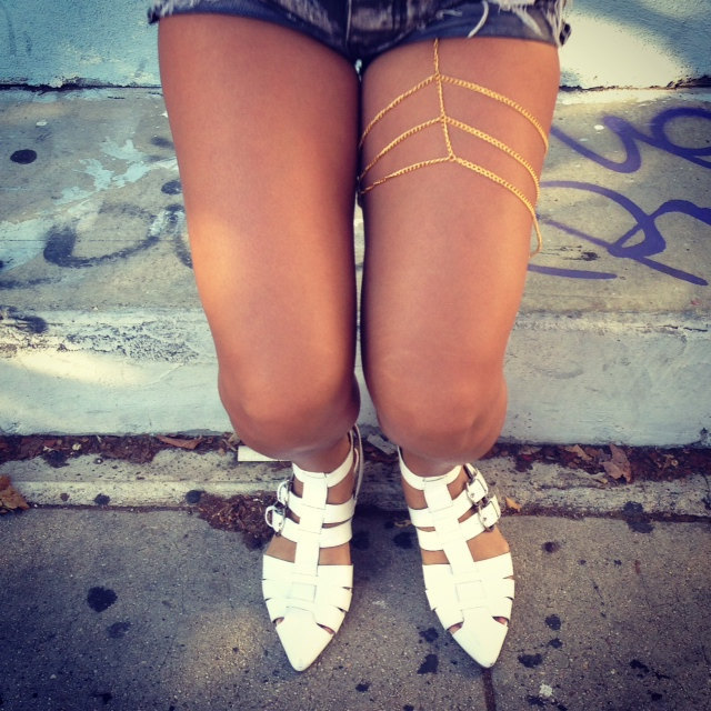 Gold leg chain body chain jewelry - Other