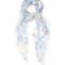 Skull and hummingbird silk-chiffon scarf