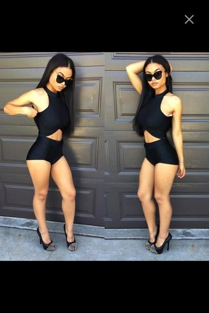 swimwear black bathingsuit