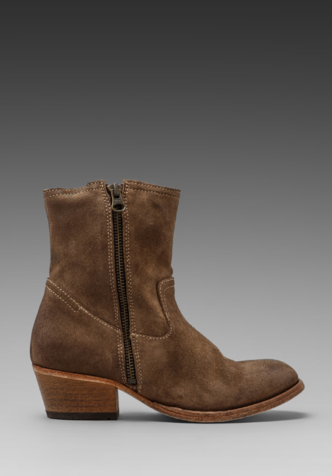 H BY HUDSON Riley Suede Bootie in Beige at Revolve Clothing - Free Shipping!