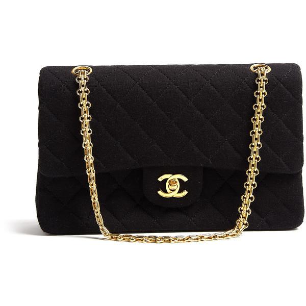 Vintage Heirloom Black 2.55 Classic Chanel Handbag - Polyvore
