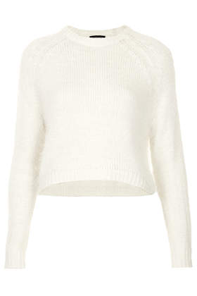 Knitted Fluffy Crop Jumper - Fluffy Knits - Knitwear  - Clothing - Topshop