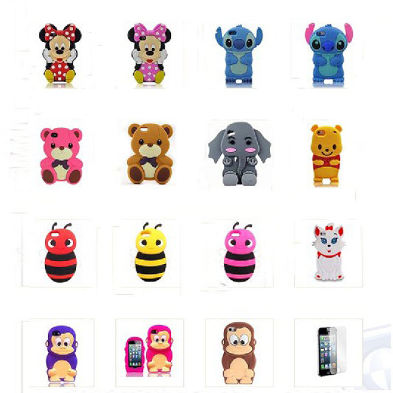 3D Disney Animals Cartoon Silicone Case Cover for iPhone 4 4S 5 5S 1 Protectors | eBay