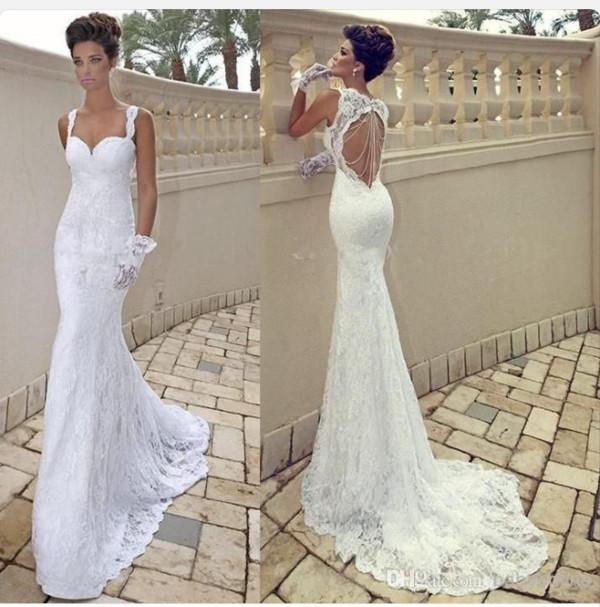 dress wedding dress wedding gown lace lace wedding dress backless white dress