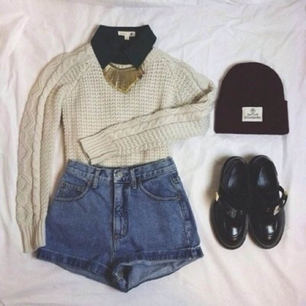 sweater shirt jewels outfit knit knitted sweater blouse jewelry hat shoes