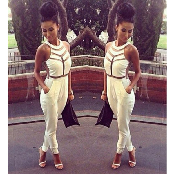 jumpsuit mesh hot chick celebrity style