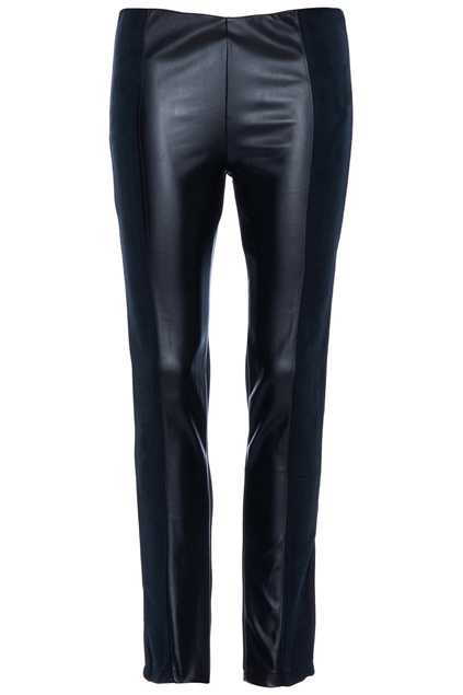 ROMWE | Vinyl Panel Elastic Black Pants, The Latest Street Fashion