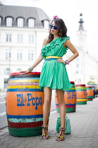 macademian girl shoes belt bag sunglasses jewels