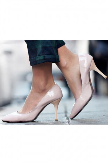 Pigalle Patent Leather Pumps Pink [CLS520] - PersunMall.com