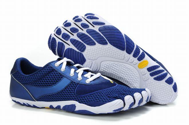 blue vibram five fingers speed sneakers for men