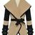 ROMWE   Coffee And Black Slim Large Collar Shawl Waistcoat, The Latest Street Fashion