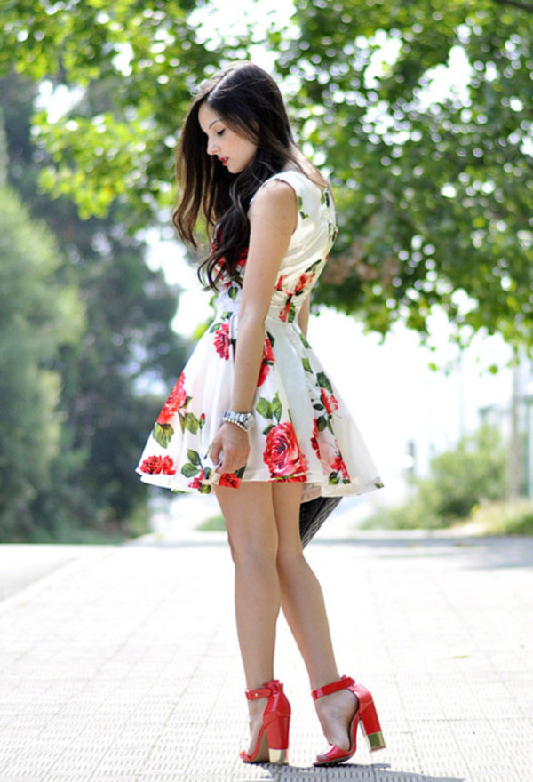 shoes heels gold red dress