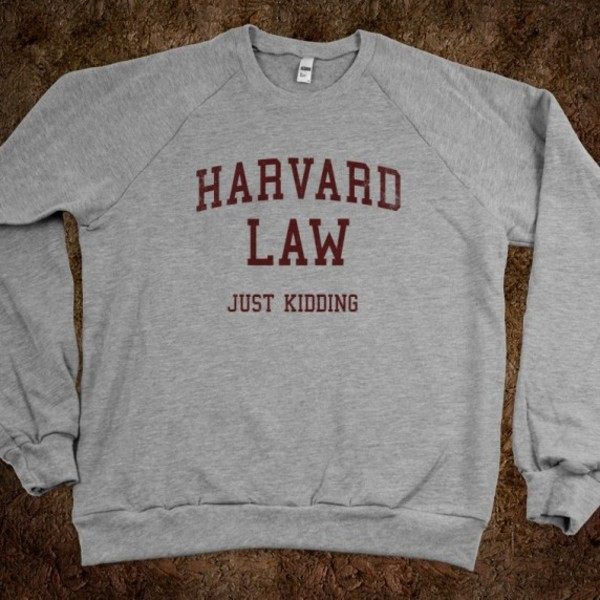 sweater grey harvard funny sweater