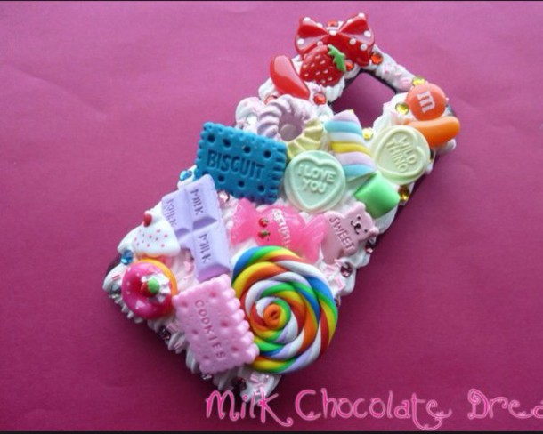 phone cover colorful phone cover girly pretty candy phone icifashion