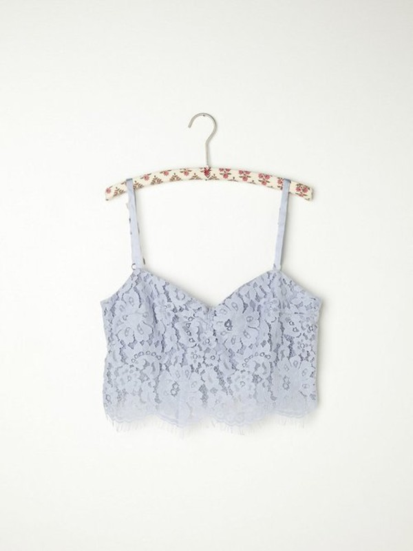 top lace floral crop tops