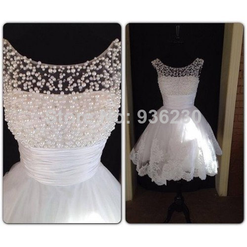 Short White Pearl Bead Lace Short Prom Dress Straps Knee length Party Dress / Homecoming Dress 2014-in Homecoming Dresses from Apparel & Accessories on Aliexpress.com