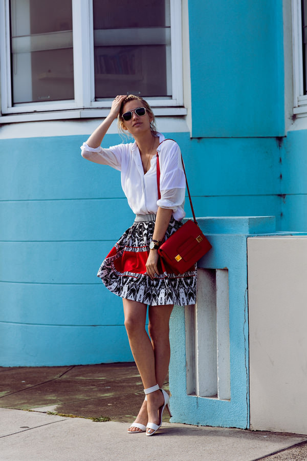 zanita skirt shirt jewels bag shoes sunglasses