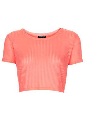 Rib Crop Tee - Tops - Clothing - Topshop