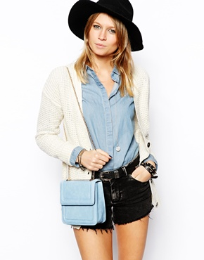 ASOS | ASOS Cross Body Bag with Sleek Curb Chain at ASOS