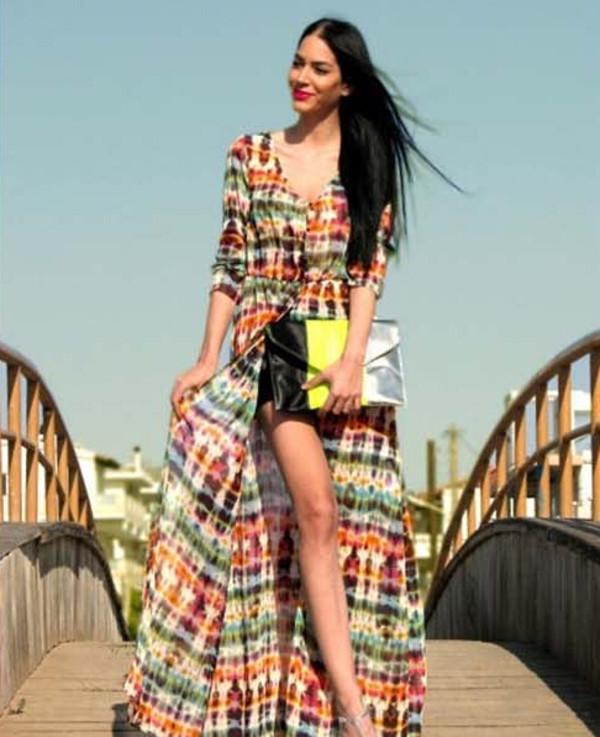 dress chiffon summer dress beach fashion long dress vogue vintage