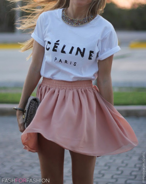 skirt clothes t-shirt