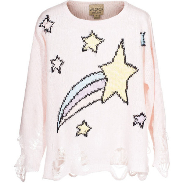 sweater wildfox pastel distressed sweater