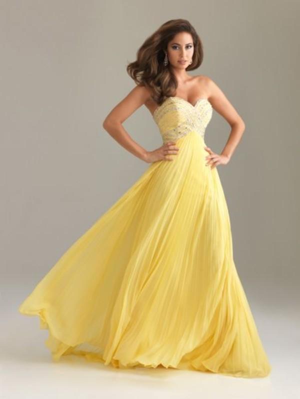 dress maxi dress yellow cocktail dress