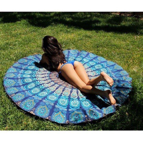 Hippie Round Beach Throw 72 Bohemian Towel Yoga Mat Table