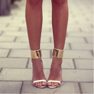 Girly Gold High Heels - Shop for Girly Gold High Heels on Wheretoget