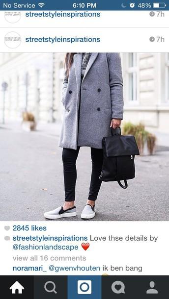 coat grey coat shoes